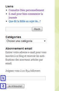Abonnement WordPress