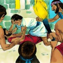 Cependant tout le monde désobéissait à Dieu. Les gens se faisaient beaucoup de mal.