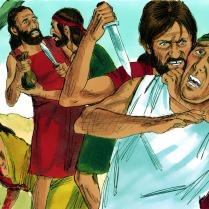 Dieu vit que les êtres humains qu'il avait créés étaient devenus très méchants et violents.