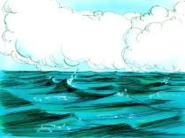 Les eaux continuèrent de monter jusqu'à ce qu'elles couvrent toutes les hautes montagnes. Toutes les créatures vivantes sur terre en dehors de l'arche furent anéanties.