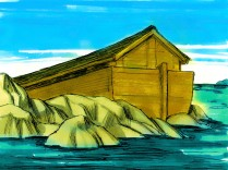 Genèse 8 Lorsque le niveau d'eau se mit à baisser, l'arche s'arrêta sur les montagnes d'Ararat.
