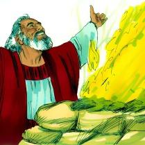 Noé bâtit un autel à l'Éternel et fit des sacrifices à Dieu.