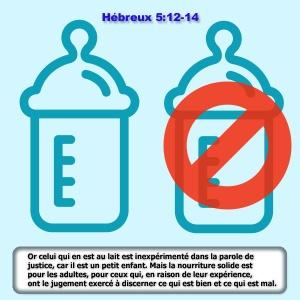 Hébreux 5:13-14