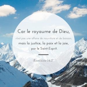 Romains 14:17