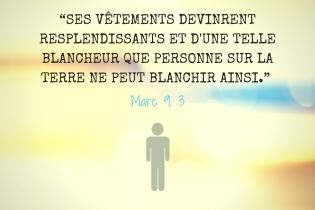 Contraste - Marc 9. 3