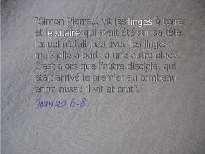 Linges Jean 20:6-8