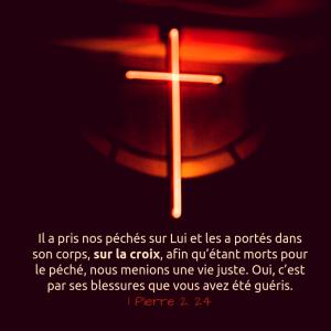 péché, croix, mort, guérison